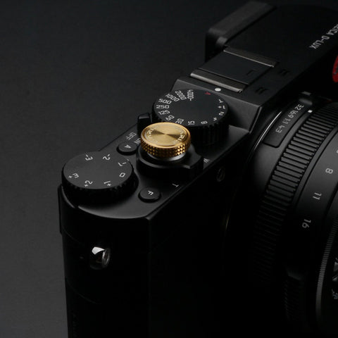 Gariz Screw type Soft Button Red XA-SBA3 for X-PRO1 X100 X10 LEICA CONTAX (Red Ring)
