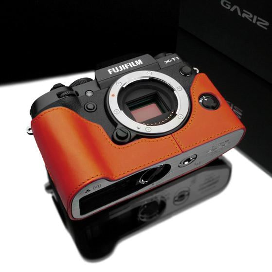 DISCONTINUED CASE - Gariz Orange Leather Camera Half Case XS-CHXT1OR for Fuji Fujifilm X-T1 XT1