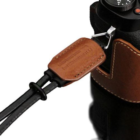 Gariz Black Genuine Leather Mirrorless Camera Wrist Strap XS-WBL6