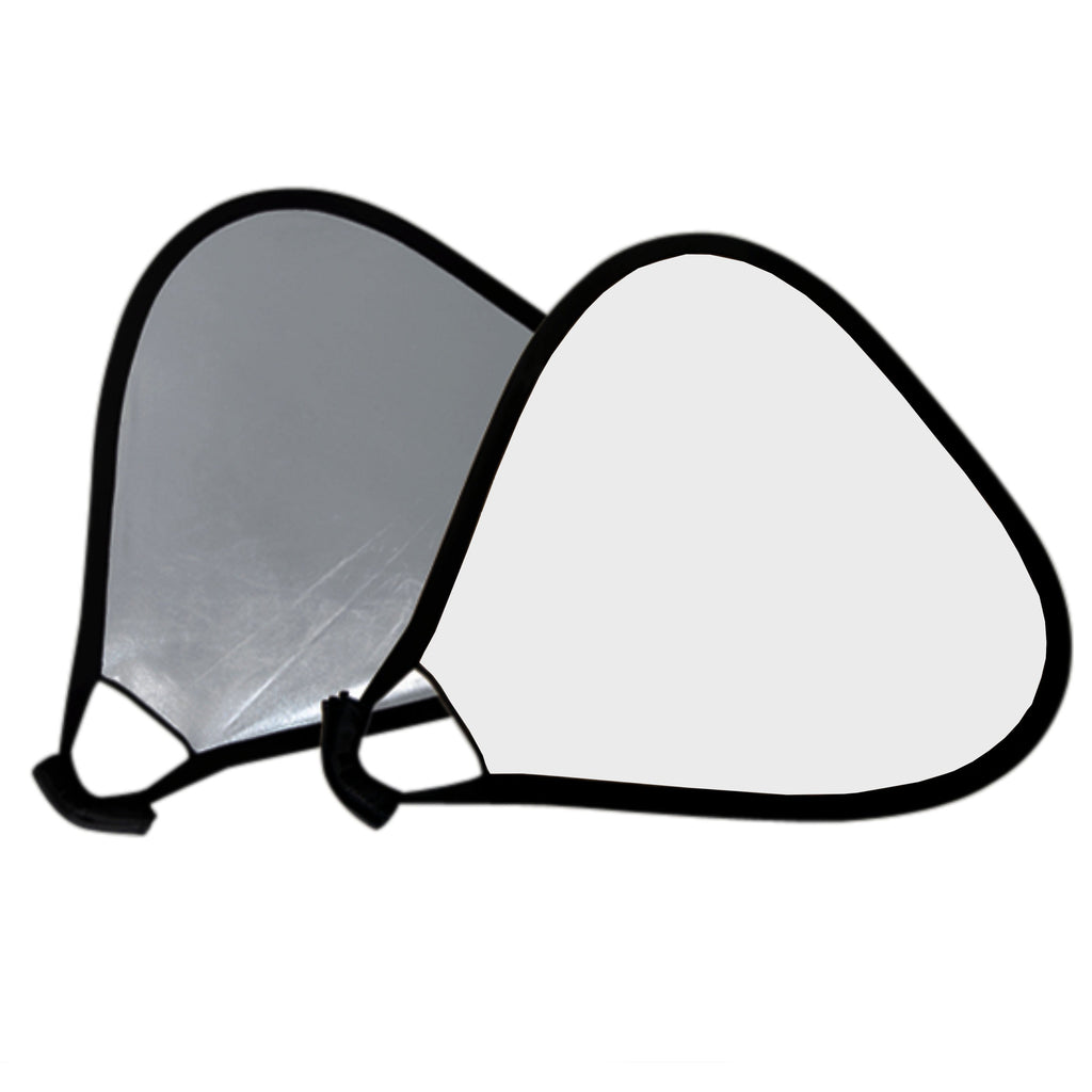 Hypop Portable 80cm Handheld Reflector Panel (Silver/White)