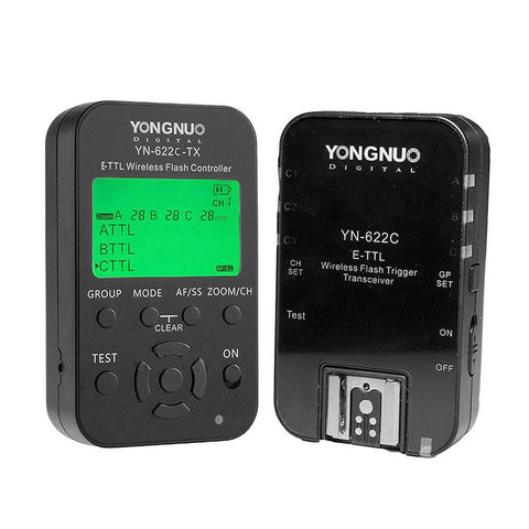 Yongnuo YN622C/YN622C-TX Wireless Flash Trigger Controller Kit for Canon