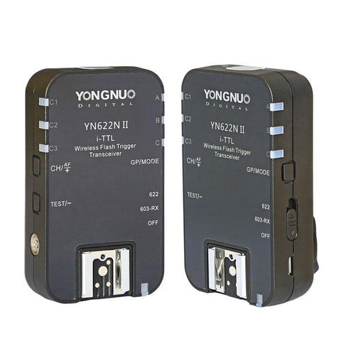 Yongnuo YN622N II i-TTL Wireless Flash Trigger Transreceiver for Nikon (Pair)