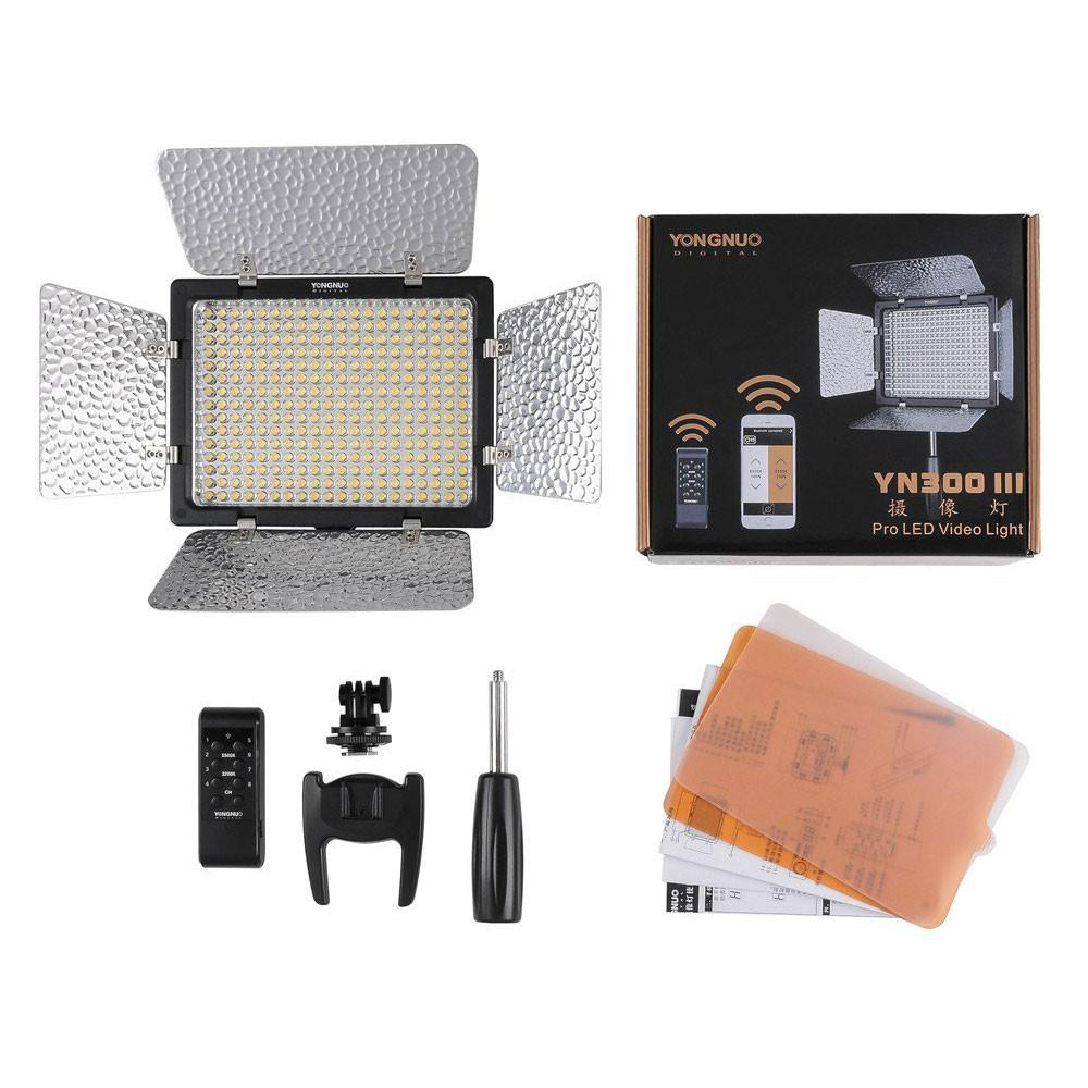 Yongnuo YN-300 III 5500K LED Video Studio Light with Remote Mobile Control exclude