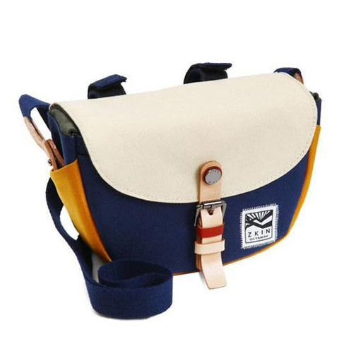 Zkin Getaway Hyas Navy Beige DSLR Camera Shoulder bag