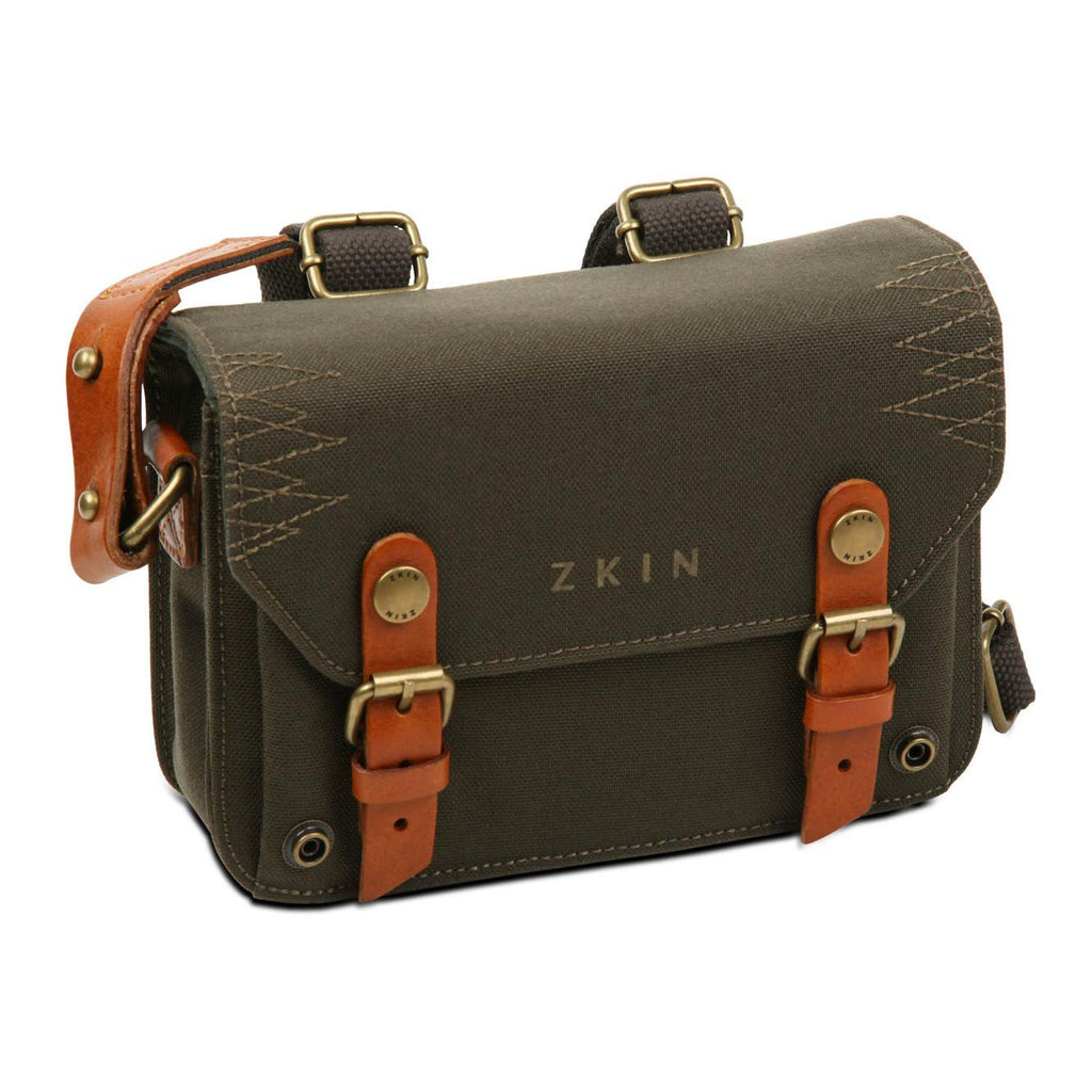Zkin Raw Hydra Army Green DSLR Camera Shoulder Satchel Bag