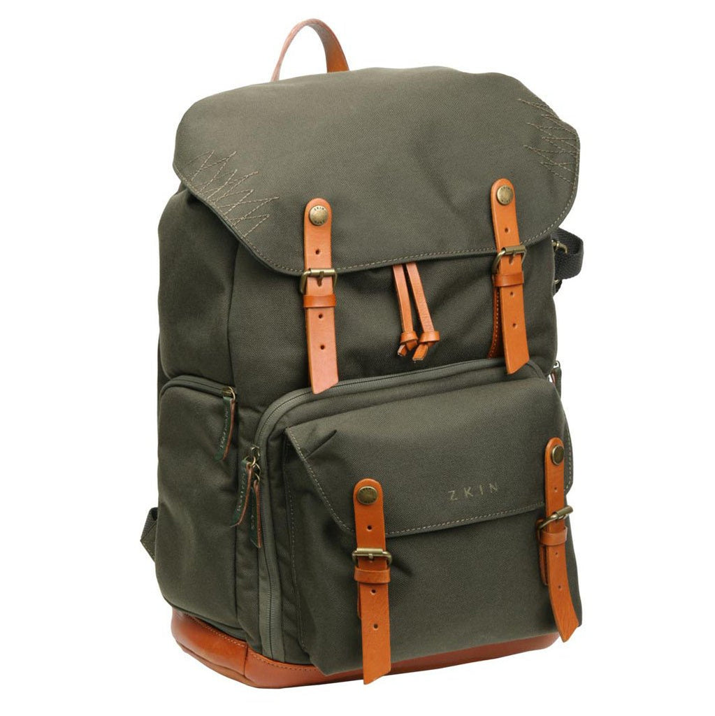 Zkin Raw Yeti Army Green DSLR Camera Backpack Bag exclude