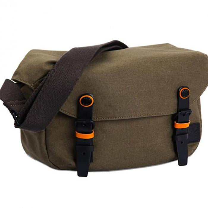 Zkin Getaway Cetus Canvas Moss Green DSLR Camera Satchel Shoulder Bag