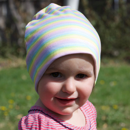 Toddler Light Stripes Rainbow Hat