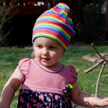 Toddler Bright Stripes Rainbow Hat
