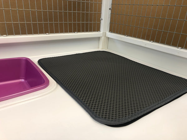 Grey Double Layer Waterproof Cat Litter Mat