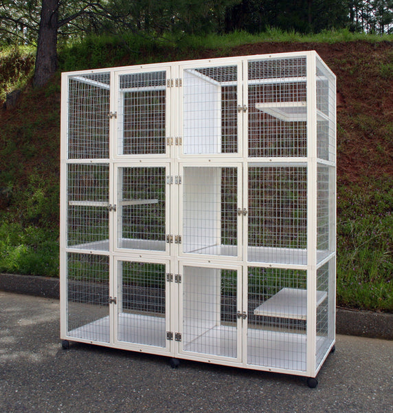 s555 with Galvanized Stainless Steel Wire (no PVC coating) and Solid Vertical Dividers