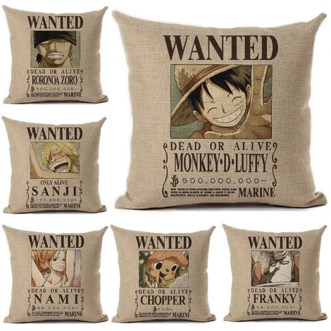 One Piece Wanted Poster Pillow Cases