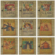 Actual Size One Piece Wanted Posters