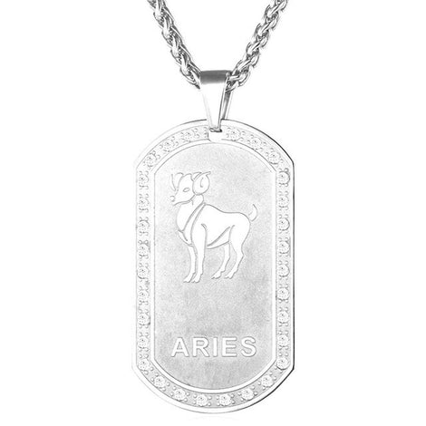 Silver Astrology Necklace