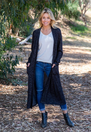 Long pocket cardigan CURVY