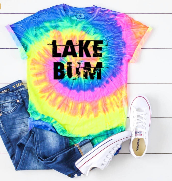 Lake Bum tie dye t-shirt