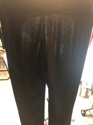 Faux leather textured print high waist legging