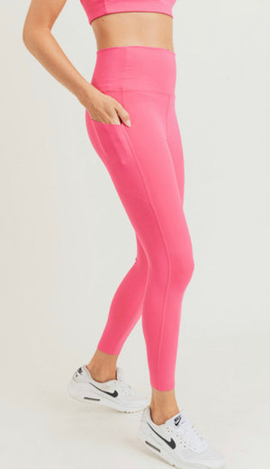 Laser Cut Foldover High waist legging 4 colors  (curvy available)