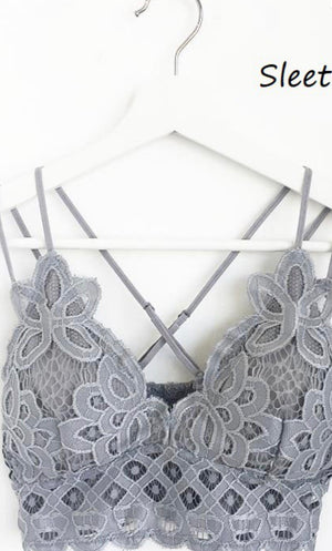 scalloped lace bralette CURVY