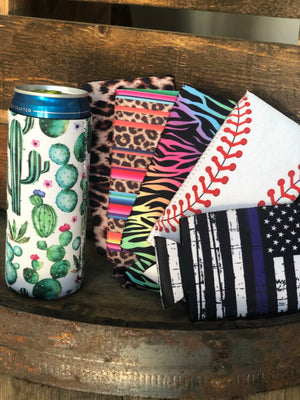 Slim can koozie