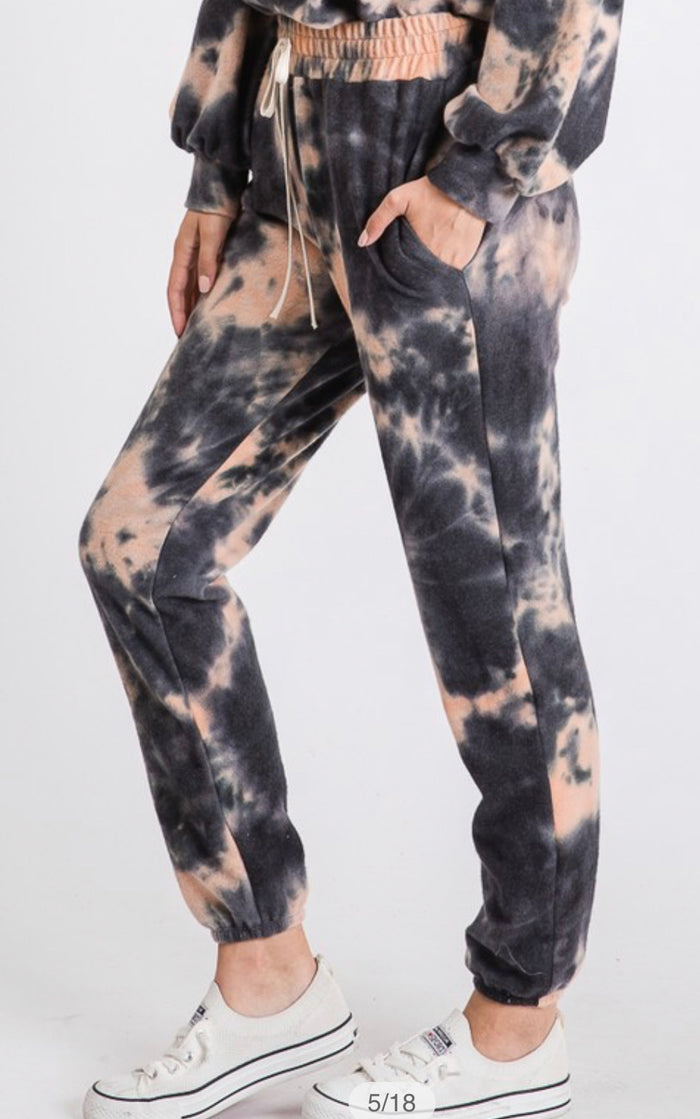 Brushed terry Tie Dye jogger pant