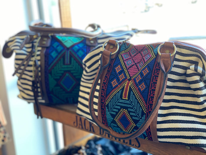 Aztec embroidered bag purse