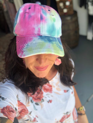 Tie dye hat (traditional cotton cap)