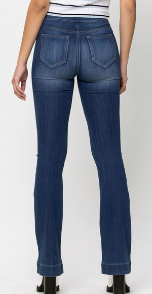 Cello mid-rise pull-on flare jegging
