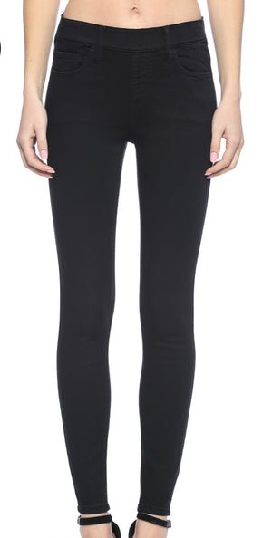 CELLO Mid rise pull on black crop skinny