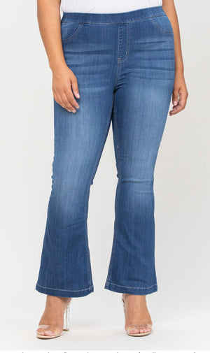 "Cello brand mid-rose flare jegging 30"" inseam"