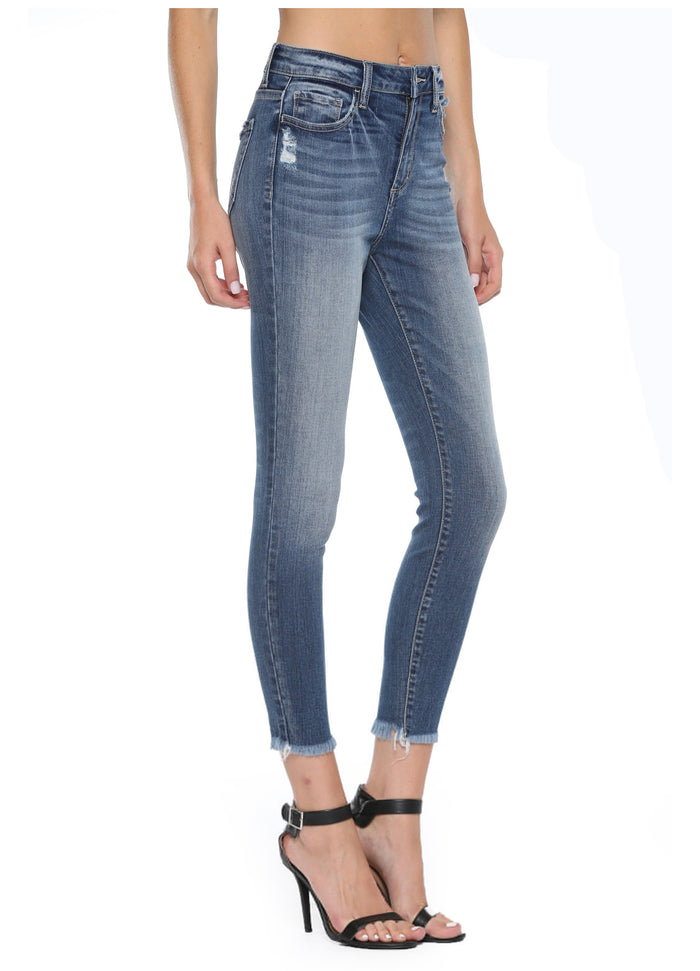 Hi rise distressed crop skinny CELLO brand