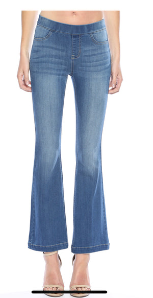 "Cello flare mid-rise pull on jegging MEDIUM WASH (30"" inseam)"