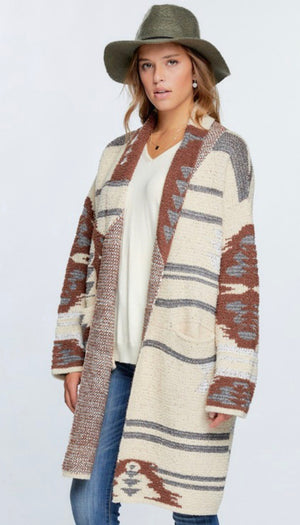 Beth Cardigan soft fleece