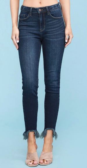 MIAMI Judy Blue brand non distressed shark bite skinny CURVY size