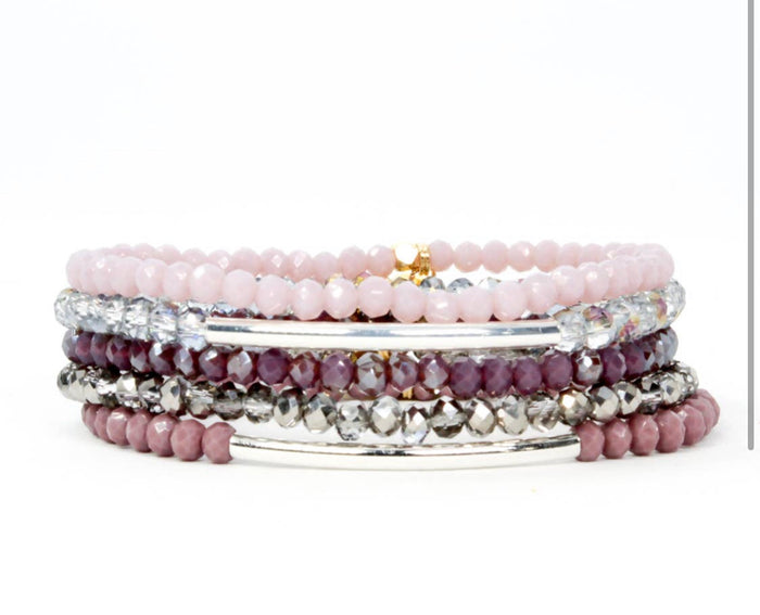 Bracelet - Mini Blush Purple Bracelet Stack