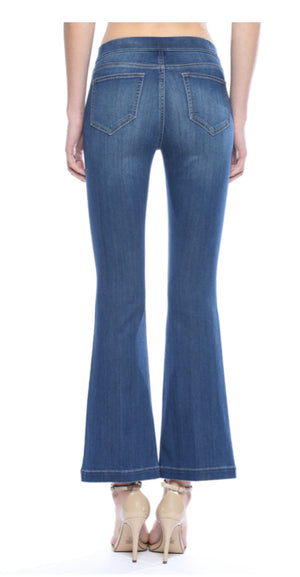 "Cello flare mid-rise pull on jegging DARK (30"" inseam)"