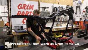 Harley Davidson FXR Frame Up build prep on Grim Dave, the FXR