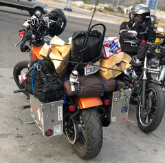 How to properly overload your Harley Davidson Dyna Street Bob with too much stuff