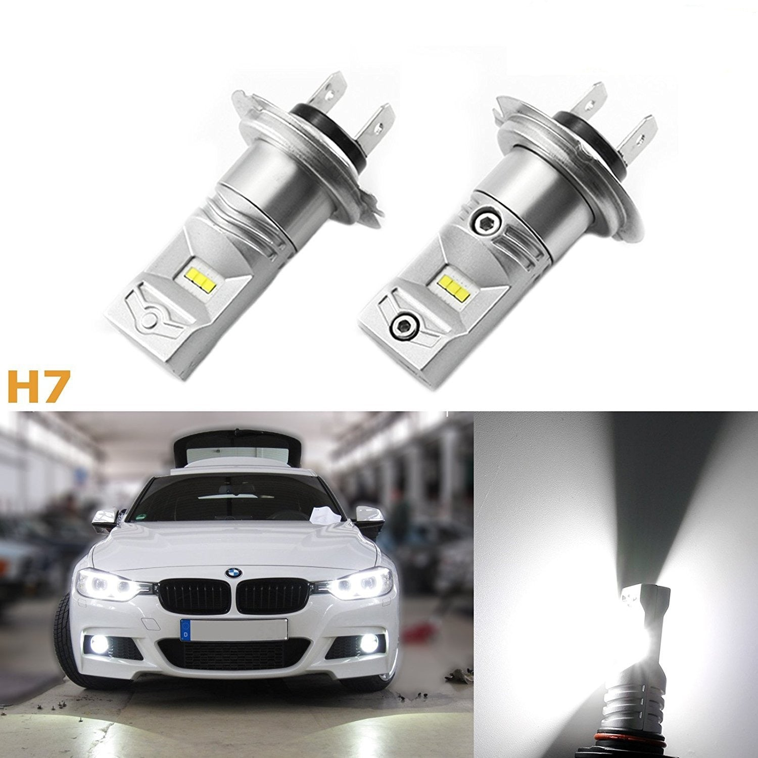 100w bright white high power h7 led bulbs daytime running