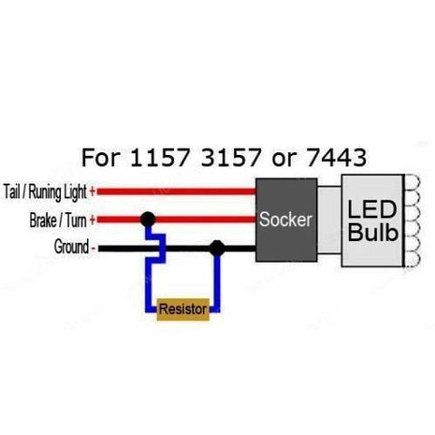 No Flashing or Burnt Out / Error Code / Hyper-Flashing 6 Ohm 50W Load Resistors