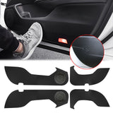 Carbon Fiber Print Leather Door Anti-Kick Pad Protective Guard Cover Trim 4pcs for Honda Accord 10th Generation 2018 2019 2020