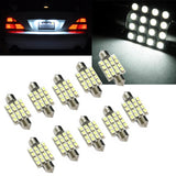 (10) Xenon White 16-SMD LED 36MM License Plate Lights Festoon Bulbs For BMW Volkswagen Mercedes Benz etc