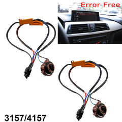 2pcs 3157 4157 Hyper Flash Pre-wired Load Resistors LED Switchback Turn Signal Light Error Fixer