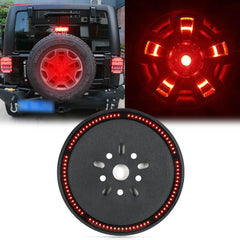 for Jeep Wrangler JK 2007-2018 Spare Tire Brake Light, Spare Tire LED Tail Light Rear Wheel 3rd Brake Lamp