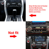 ABS Carbon Fiber Center Console Gear Shift Panel Strip Cover Molding Trim for Honda Civic 10th 2016 2017 2018