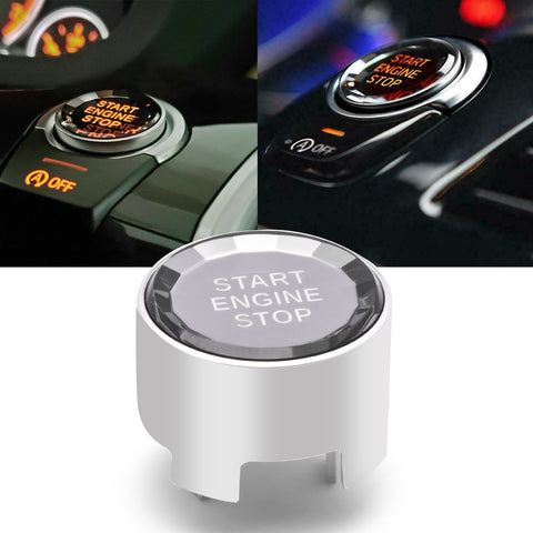 Red / Silver / Blue / Black Crystal Start Stop Button Cover Trim Engine Ignition Switch Replacement Cap for BMW 1 2 3 4 5 7 Series X1 X3 X5