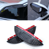 Door Side Rear View Mirror Rain Snow Sun Visor Guard for Toyota Camry 2018 2019 2020, Carbon Fiber Texture Rain Guard Visor Shade Shield