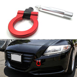 JDM Sporty Red CNC Aluminum Tow Towing Hook for Honda 3rd Gen Fit Jazz 2015-2018, Fit Acura TLX 2015-2018