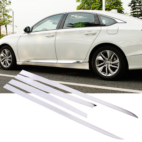 Stainless Steel Car Door Protector Side Body Moulding Molding Sticker Trim for For Honda Accord 2008-2012 2018-up