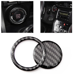 Carbon Fiber Car Engine Start Stop Button Trim Decor Cover Sticker for Subaru BRZ Toyota 86